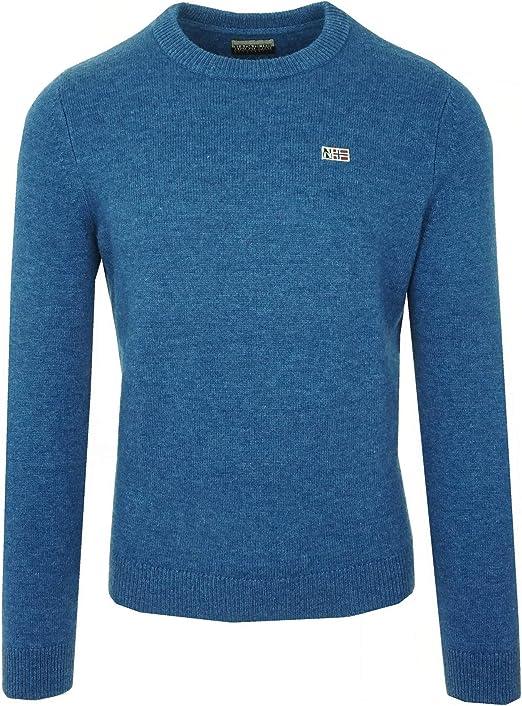 Napapijri Herren Pullover Blau: : Bekleidung