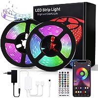 Bewahly Tiras LED 10M, Bluetooth RGB Tiras de Luces LED, Control de APP y Remoto Control, 16 Millones de Colores…