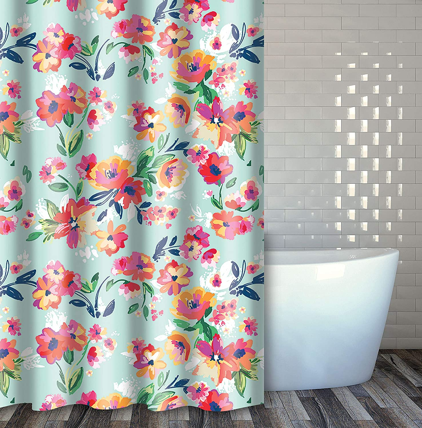 """Home Expressions Durable Waterproof Peva Shower Curtain 70""""x72"""" (Floral Design)"""