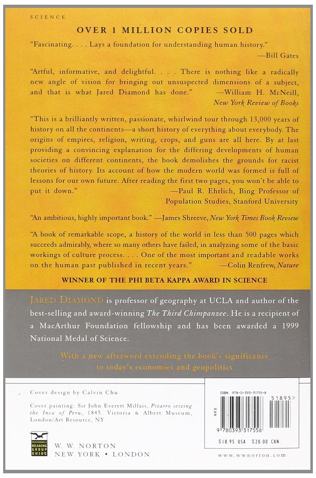 Guns, Germs, And Steel: Jared Diamond: 9780393317558: Books  Amazon