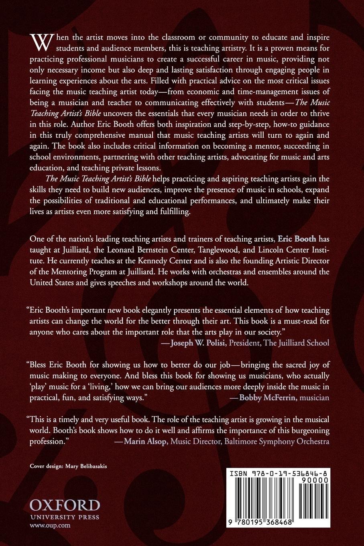 The Music Teaching Artist's Bible: Becoming a Virtuoso Educator: Eric  Booth: 9780195368468: Amazon.com: Books