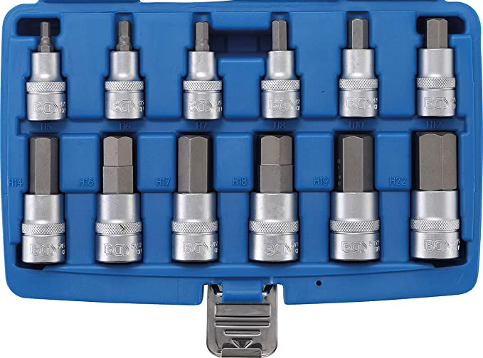1 piece XZN pack of 8 3//8 5105 10 mm/ BGS bit insert kit
