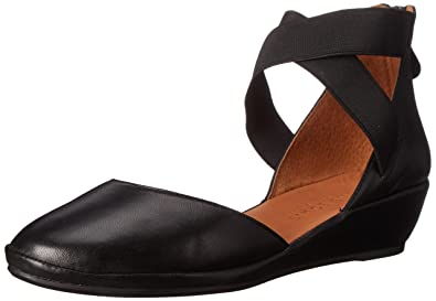 07d1aff9dc1 Gentle Souls by Kenneth Cole NOA Leather Ankle-Strap Wedge Black
