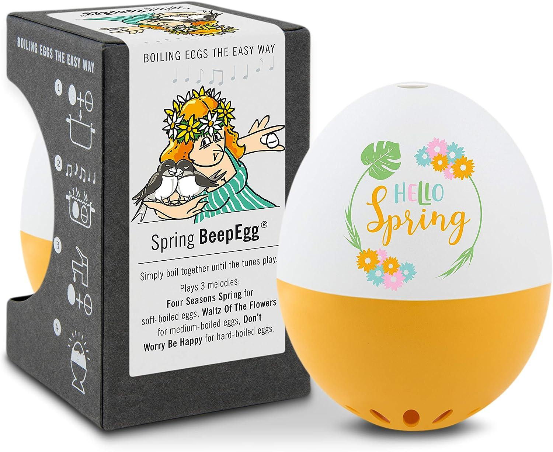 Brainstream Fr/ühlings PiepEi orange A005375 Spielt 3 Melodien f/ür 3 H/ärtegrade Eieruhr zum mitkochen