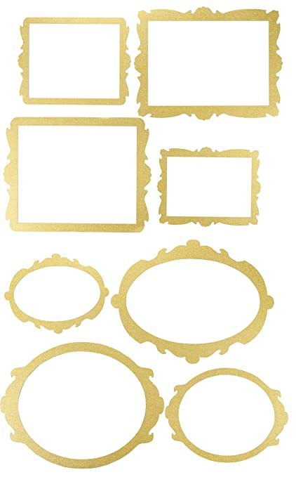 Amazon Blue Panda Photo Booth Frame 8 Pack Gold Glitter