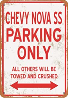 """6/"""" x 18/"""" Long Ships Free Chevrolet Nova SS Marquee New Metal Sign"""
