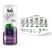 Bai Bubbles, Sparkling Water, Bogotá Blackberry Lime, Antioxidant Infused Drinks, 11.5  Fl. Oz Cans, 12 count