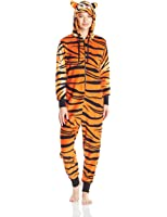 Totally Pink Women's Plush Specialty Tiger Onesie