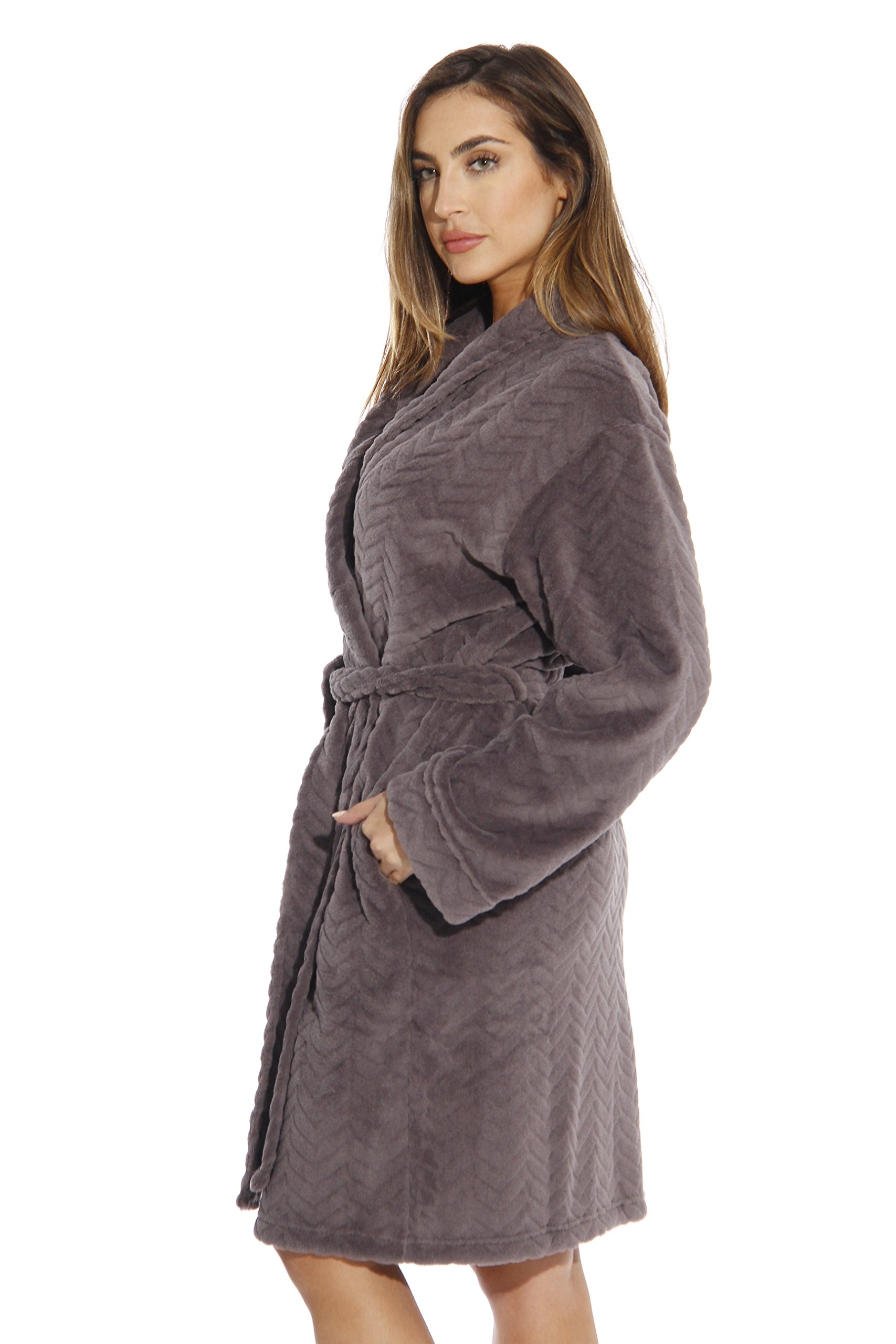 6312-Charcoal-M Just Love Kimono Robe / Bath Robes for Women by Just Love (Image #2)