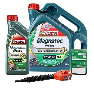 1 l + 4 L=5 litros Castrol Magnatec Diesel 10 W de 40 B4 ...
