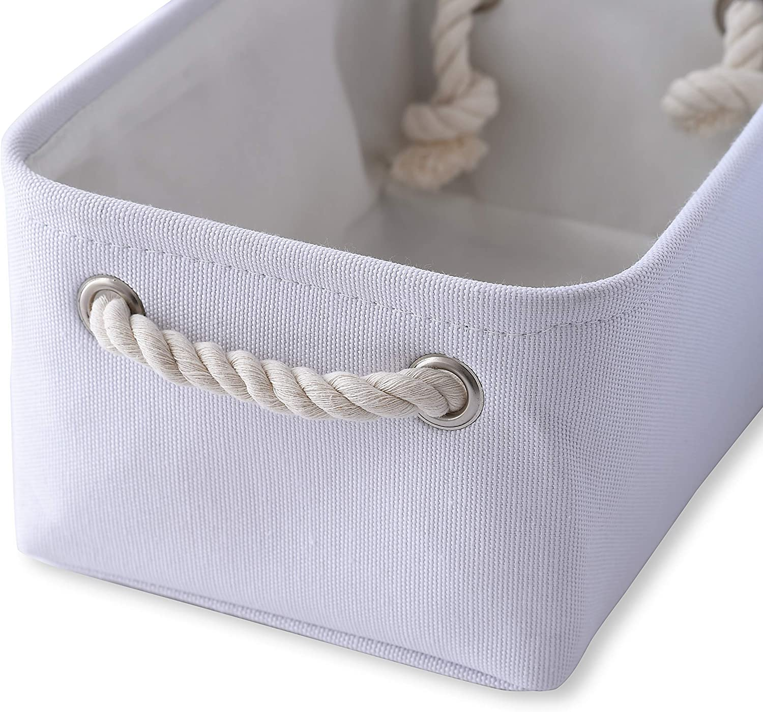 Towels 6 Pack 11.8L/×7.9W/×5.2H inch Dog Toy Storage Baskets for Organizing Toys Storage Basket Storage Bins Fabric Basket Small Basket Storage Organizer with Handles for Home