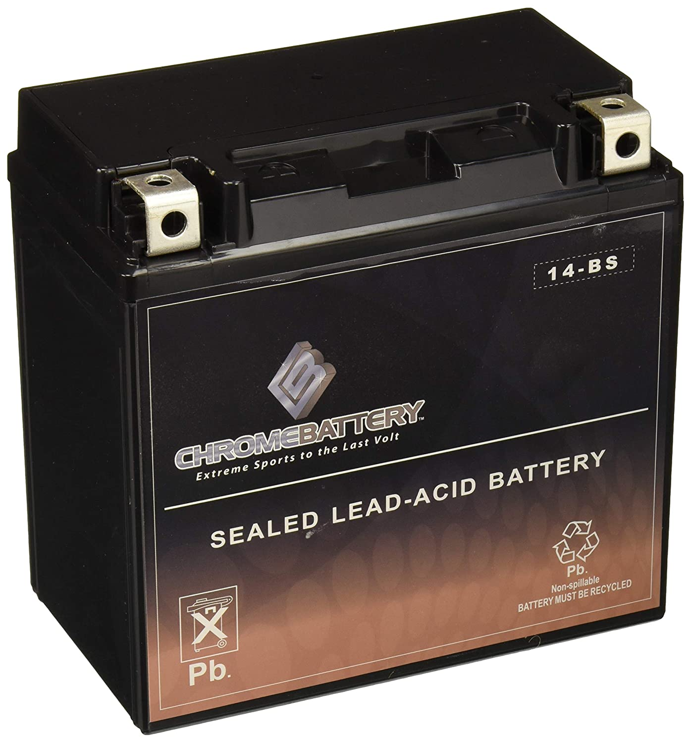Chrome Battery AGM ATV Battery}