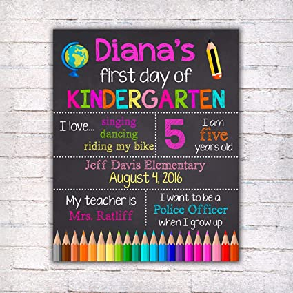 photo about First Day of 1st Grade Printable known as : Dozili Custom-made To start with Working day of Kindergarten