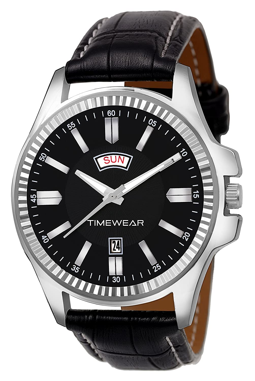 TIMEWEAR Analogue Black Dial Day and Date Men's Watch