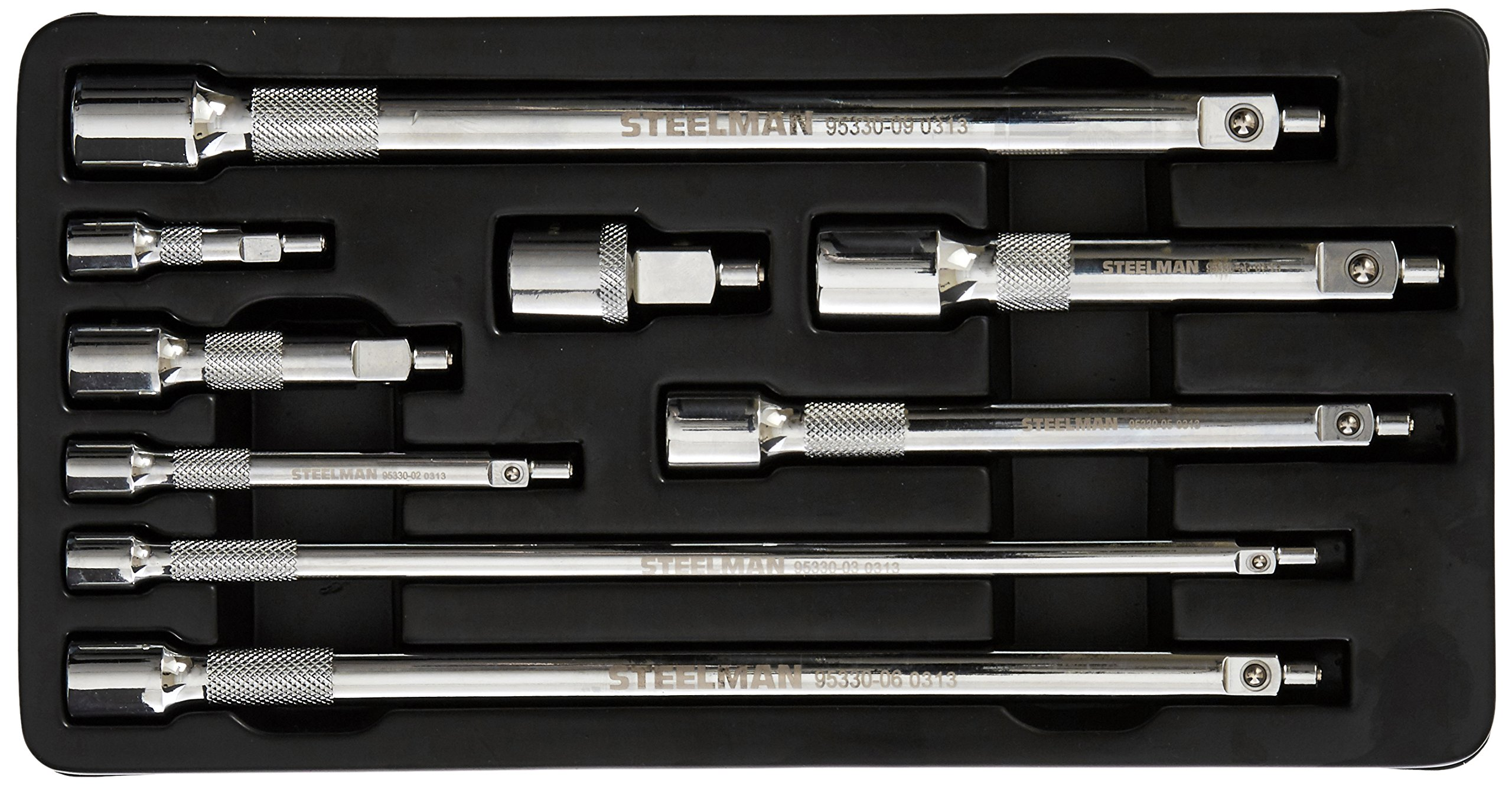 Steelman 95330 9-Piece Magnetic Extension Set, 1/4, 3/8, and 1/2-Inch Drive by Steelman (Image #1)