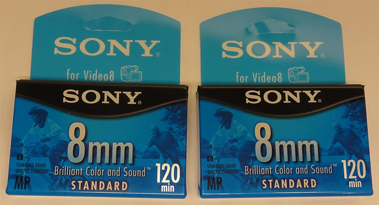 Sony 8mm Standard for Video8 ~ 120 Mins ~ P6-120MPL 2 Pack