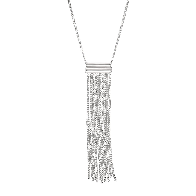 Silpada 'Modern Fringe' Pendant Necklace in Sterling Silver