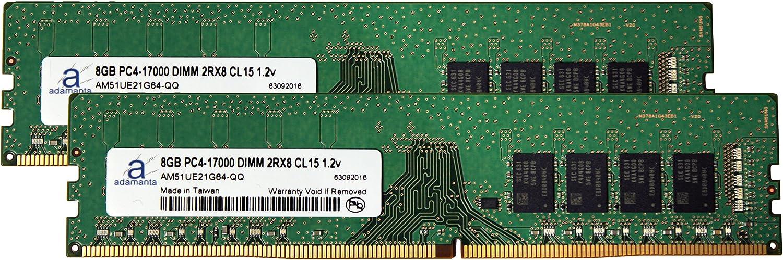 Memory Upgrade for Gigabyte GA-X99-UD4 DDR4 2133 PC4-17000 DIMM 2Rx8 CL15 1.2v RAM Adamanta 16GB 2x8GB