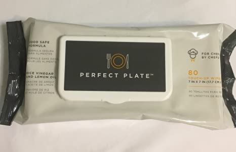 Perfect Plate Wipes, Chef Touch-up Wipes, case of 12