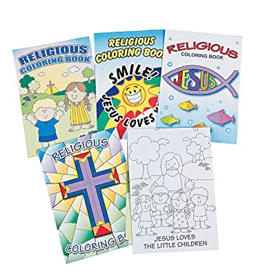 Fun Express - Religious Coloring Books (6dz) - Stationery - Activity Books - Coloring Books - 72 Pieces: Toys & Games