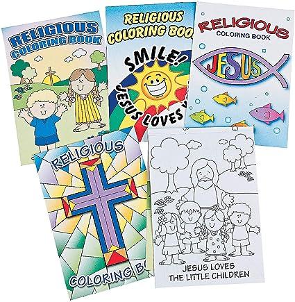 Amazon.com: Fun Express Religious Coloring Books (Bulk Set Of 72) Activity  Books For Kids: Toys & Games