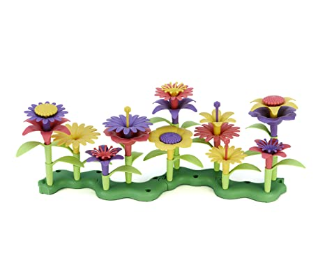 amazon com green toys build a bouquet floral arrangement playset