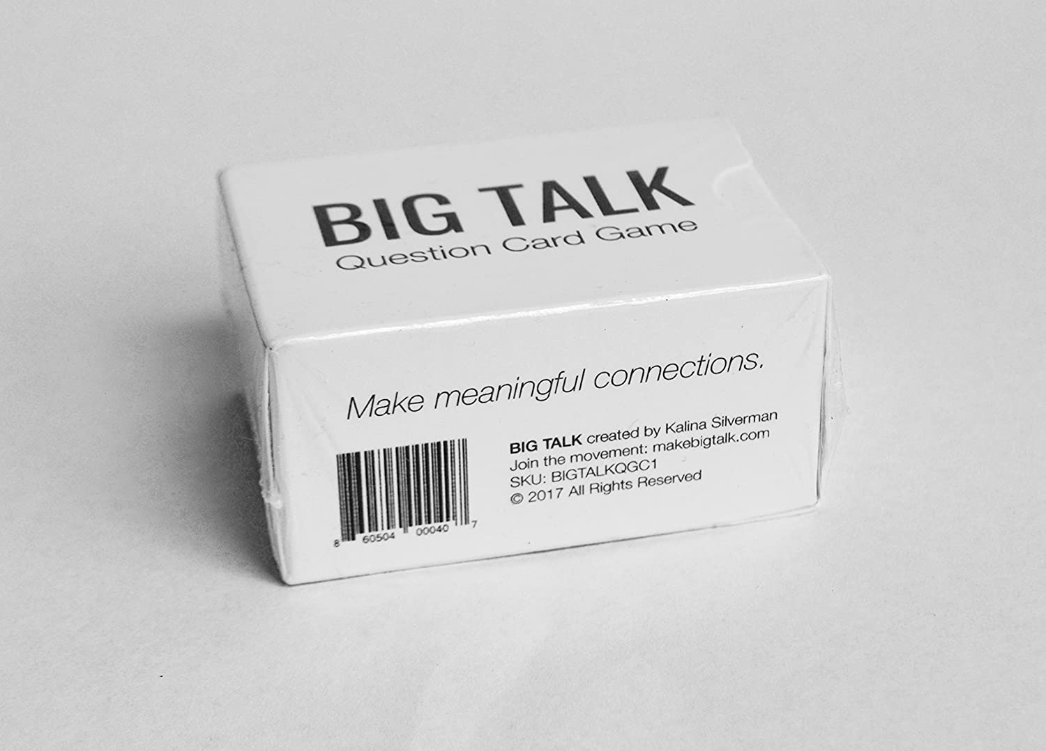 Amazon.com: BIG TALK Question Card Game: Skip Small Talk, Make Meaningful  Connections - Unique Conversation Starters, Fun Party Icebreaker Activity,  ...