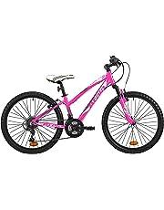 """Mountain bike da ragazza Atala RACE COMP 24"""", colore rosa fuxia - antracite, indicata fino ad un'altezza di 140cm"""