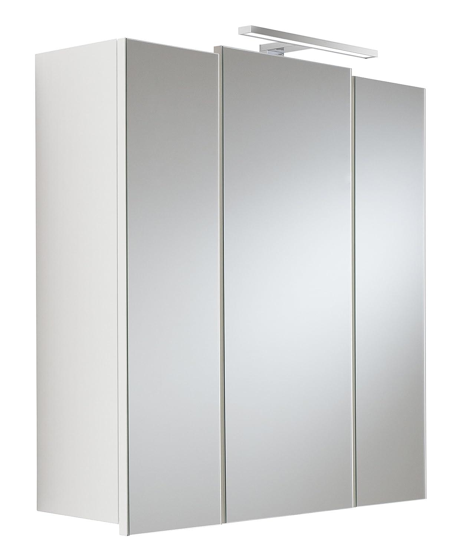 Posseik 5422 76 Spiegelschrank, 3-türig, weiß