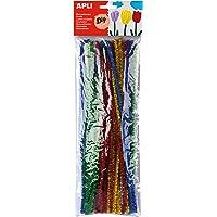 APLI - Bolsa limpiapipas brillante colores surtidos, 50