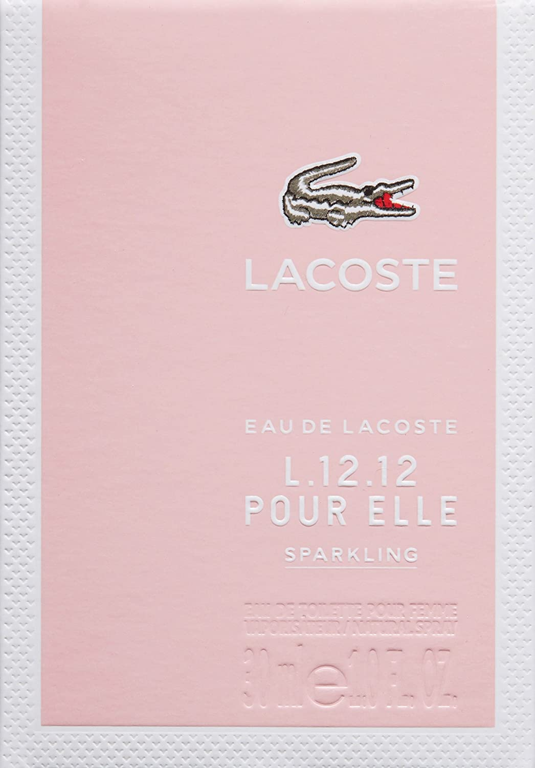 Amazon.com: Lacoste L.12.12 Pour Elle Eau de Toilette Spray, Sparkling, 1.6 fl. oz.: Lacoste: Luxury Beauty