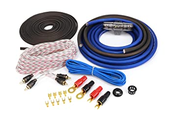KnuKonceptz Blue KCA Complete 8 Gauge Amp Installation Wiring Kit