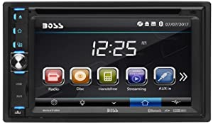 """BOSS Audio BV9371BD Car DVD Player - Bluetooth, Double Din, 6.2"""" Detachable LED Touch Screen, DVD, CD, MP3, USB & SD Ports, AM/FM Radio, Wireless Remote"""