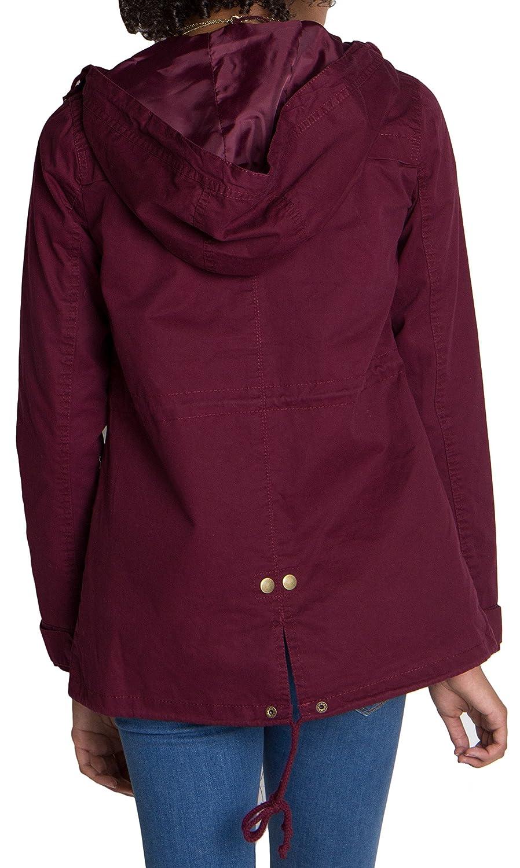 Ragstock Womens Canvas Twill Military Anorak Jacket