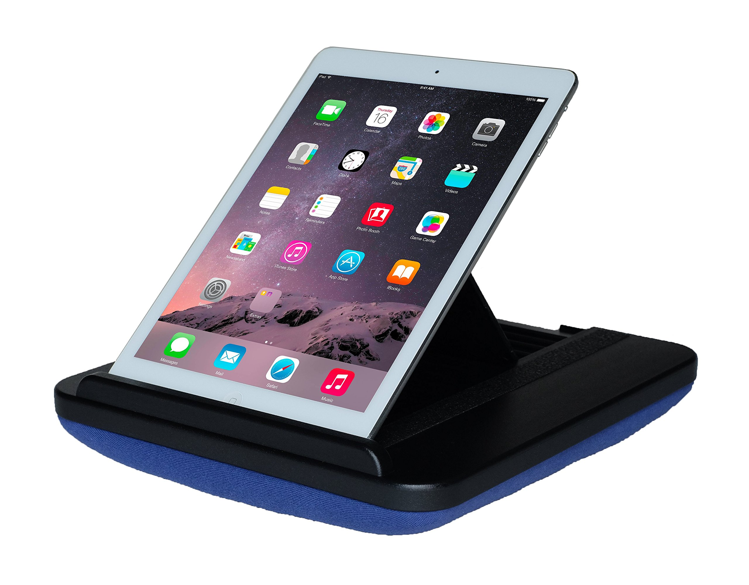 Prop 'n Go Slim - iPad Pillow with Adjustable Angle Control for iPad Air, iPad Mini, iPad Pro, iPhone, Tablets, eReaders, and More (Blue)