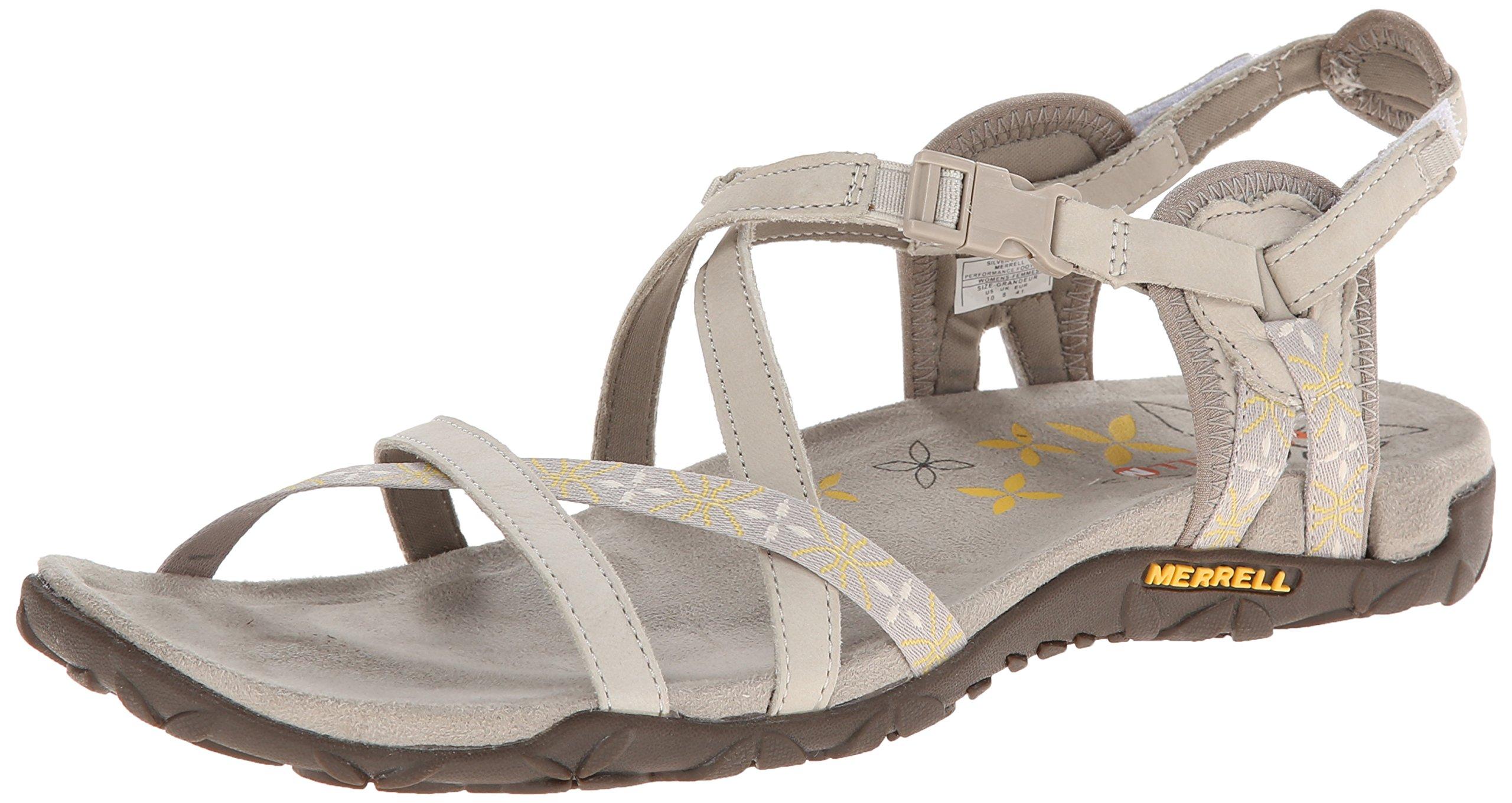 Merrell Women's Terran Lattice Sandal,Silver Lining,7 M US