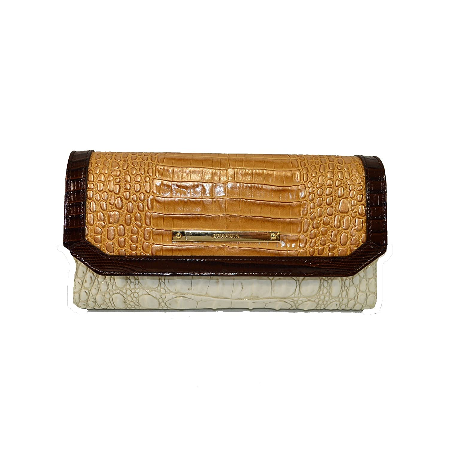 Brahmin Soft Checkbook wallet Coconut Kedima G44 1185