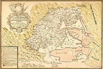 Kotor Montenegro Karte.Amazon De 24 X 36 Poster Karte Von Kotor Golf Von