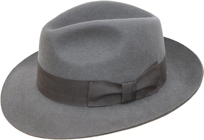 handgemachter Herren-Filzhut mit breiterer Krempe 100/% Wolle Hochqualitativer