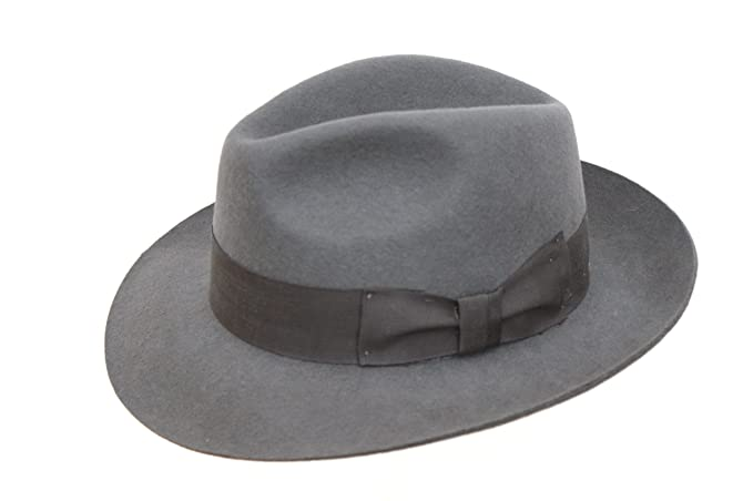 Image Unavailable. Image not available for. Colour  Ladies Wool Fashion Grey  Trilby Fedora Hat 2ff86157a22