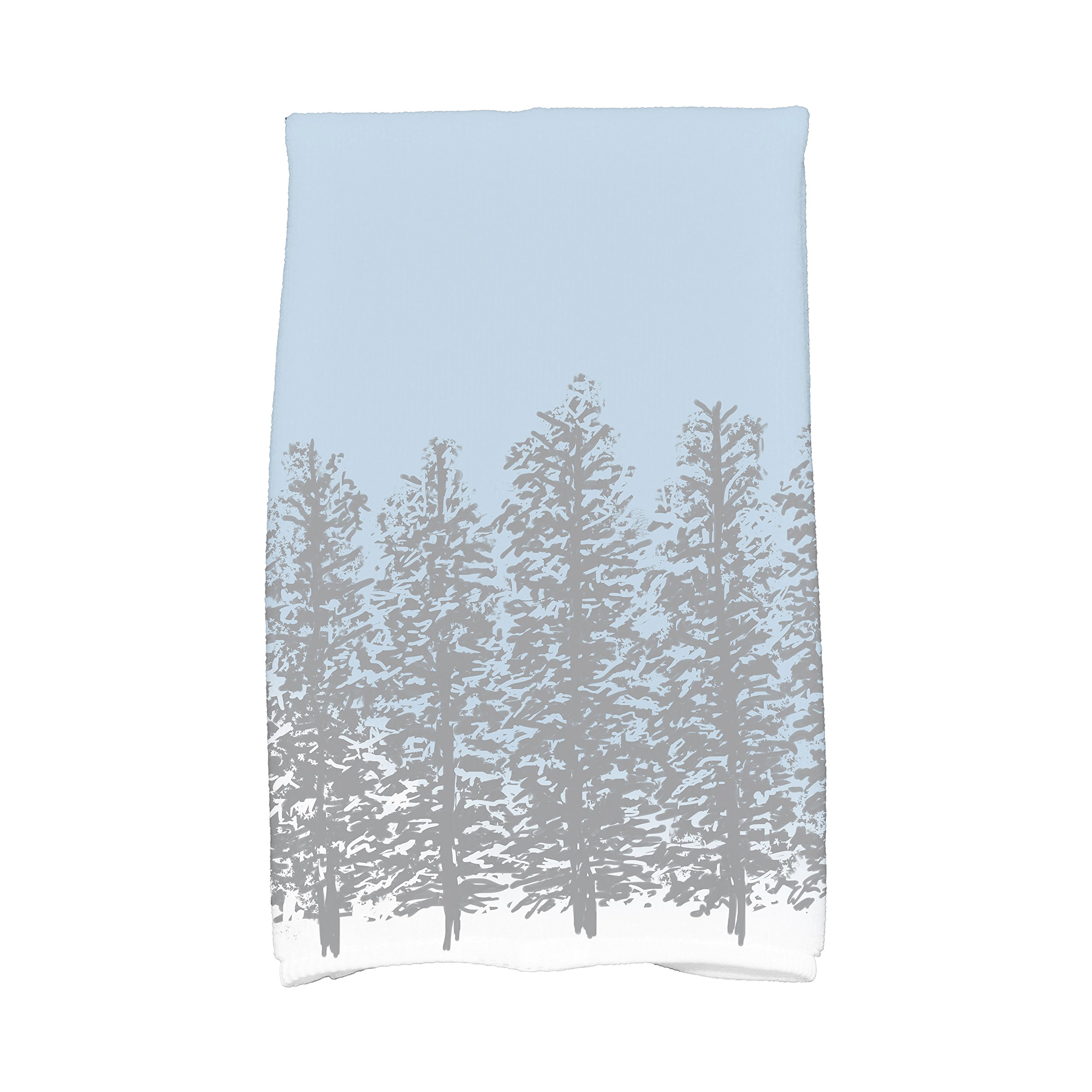 E by design KTHF973GY2 Hidden Forrest, Floral Print Kitchen Towel, 16 x 25, Gray