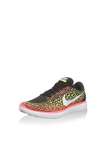 100% authentic 8b18a 6912b Nike Womens Free Rn Distance Black White Volt Hot Lava Running Shoe 9