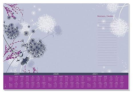 SIGEL HO400 Papier-Schreibunterlage mit 3-Jahres-Kalender, ca. DIN A2, 30 Blatt - weiteres Design