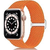 WNIPH Pleciona bransoletka Solo Loop kompatybilna z Apple Watch 38 mm 40 mm 42 mm 44 mm, klamra ze stali nierdzewnej…