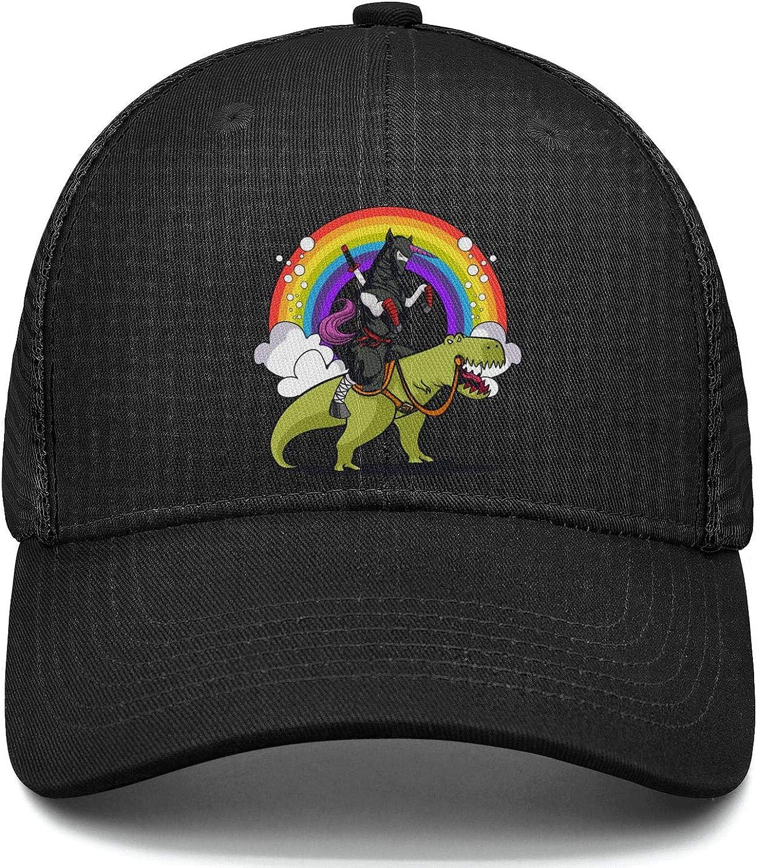 Ninja Unicorn Riding T-Rex Dinosaur Basketball Hat Adjustable Unisex Mesh Cap Duck Tongue Caps Cool Hat
