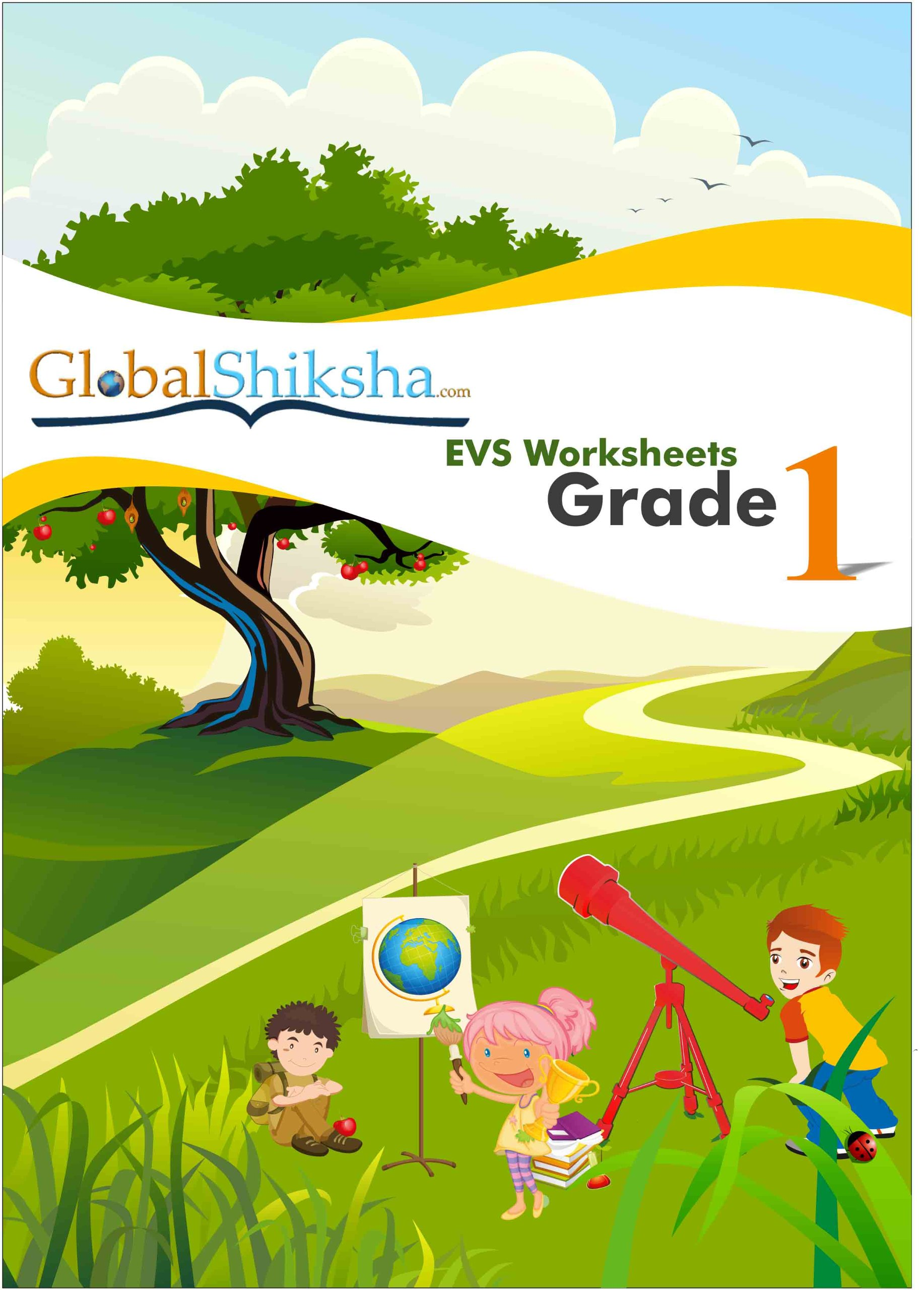 Buy Worksheets for Class 1 Environmental Science EVS Book