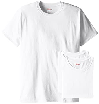 500ebd5ad1 Hanes Men's 3 Pack ComfortBlend Short Sleeve T-Shirt, White, Small