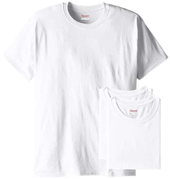 f9e8f0af9068 Hanes Men's 3 Pack ComfortBlend Short Sleeve T-Shirt, White, Small