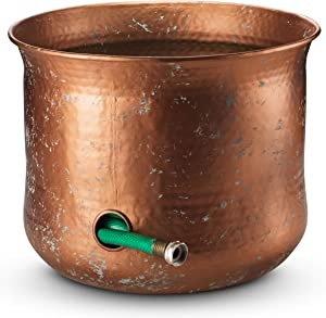 LifeSmart Decorative Garden Hose Holder Water Hose Storage Pot Outdoor or Indoor Use