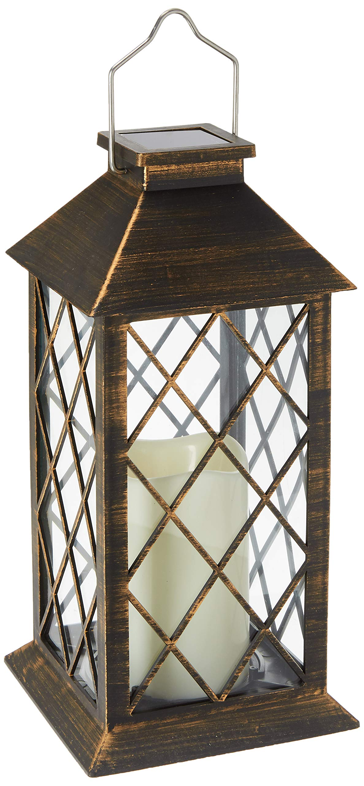 Darice 5.5'' x 10.8'' LED Candle Lantern, Gold/Black